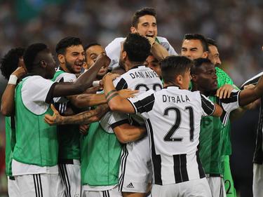 La Juventus celebra en el Olímpico de Roma (Foto: Getty)
