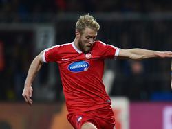 Sebastian Griesbeck vom 1. FC Heidenheim besorgte die Vorarbeit zum 1:0-Siegtreffer