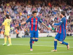 Neymar erzielte einen Treffer gegen Villarreal