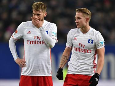 Aaron Hunt (l.) und Lewis Holtby wollen den HSV nicht verlassen