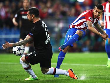 El argentino Ángel Correa compartió la delantera del Atlético con Griezmann. (Foto: Getty)