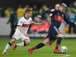 Robert Lewandowski im Spiel beim VfB Stuttgart