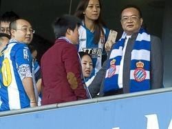 El chino Chen Yansheng (dcha.) es nuevo presidente del Espanyol. (Foto: Imago)