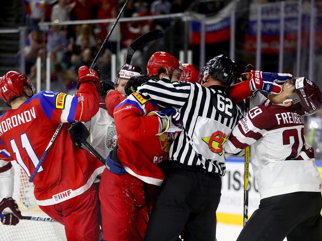 Eishockey-Nationalteam im WM-Viertelfinale - 4:3 gegen Lettland