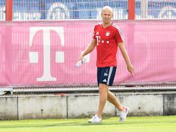 Arjen Robben musste das Training am Samstag abbrechen
