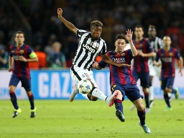 Im Champions-League-Finale durfte sich Kingsley Coman (l.) wenige Minuten mit Stars wie Leo Messi messen