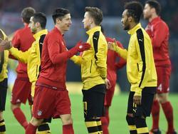 Treffen im Pokalfinale aufeinander: Robert Lewandowski (l.) und Pierre-Emerick Aubameyang