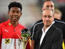 David Alaba wurde zum sechsten Mal in Serie Fußballer des Jahres