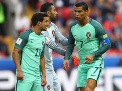 Cristiano Ronaldo (r.) erzielte das goldene Tor