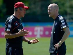 Matthias Sammer (r.) und Jupp Heynckes holten zusammen das Triple nach München