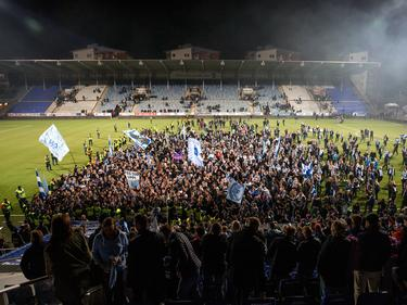 Die Fans von Malmö FF feiern die Titelverteidigung