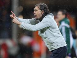 Martin Schmidt vom 1. FSV Mainz 05 gab im Dauerregen alles