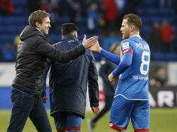 Eugen Polanski (r.) spielt seit drei Jahren für die TSG 1899 Hoffenheim