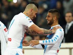 Marek Hamšík und Lorenzo Insigne waren mit Napoli erfolgreich
