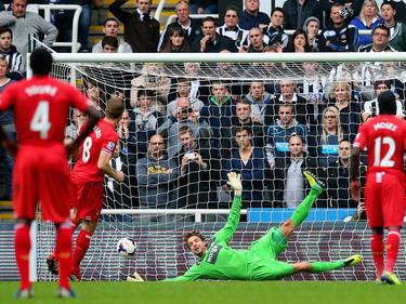 Steven Gerrard erzielte in der 42. Minute den zwischenzeitlichen 1:1-Ausgleich für Liverpool