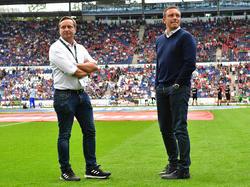 Sind mit Hannover 96 weiterhin ungeschlagen: Horst Heldt und André Breitenreiter