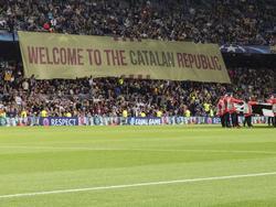 Im Camp Nou wurde zuletzt für die katalonische Unabhängigkeit protestiert