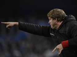Gent-Coach Hein Vanhaezebrouck dirigiert an der Seitenlinie