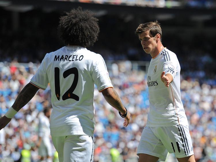 Die Real-Stars Marcelo (l) und Gareth Bale (r) fallen verletzt aus