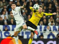 James Rodríguez (li.) könnte Real Madrid noch in diesem Winter verlassen