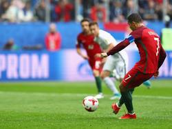 Ronaldo anota el 1-0 desde el punto de la pena máxima. (Foto: Getty)