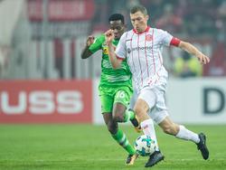 Oliver Fink (r.) droht gegen Bochum auszufallen