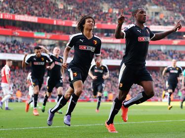 Odion Ighalo (re.) traf im FA Cup gegen Arsenal