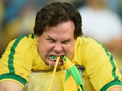 Ein unzufriedener brasilianischer Fan nach dem 1:7 im WM-Halbfinale 2014 gegen Deutschland