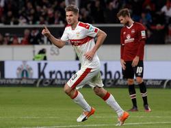 Stuttgarts Torjäger Simon Terodde spielt derzeit eine starke Saison