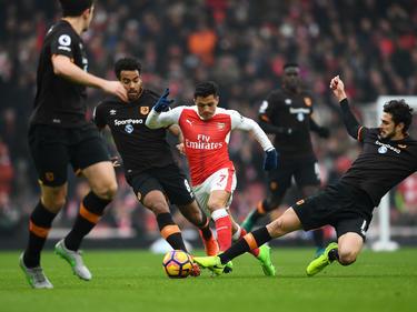 Alexis Sánchez erzielte beide Treffer für Arsenal gegen Hull