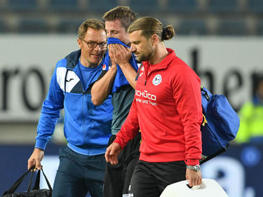 Julian Börner verletzte sich gegen Bochum am Fuß
