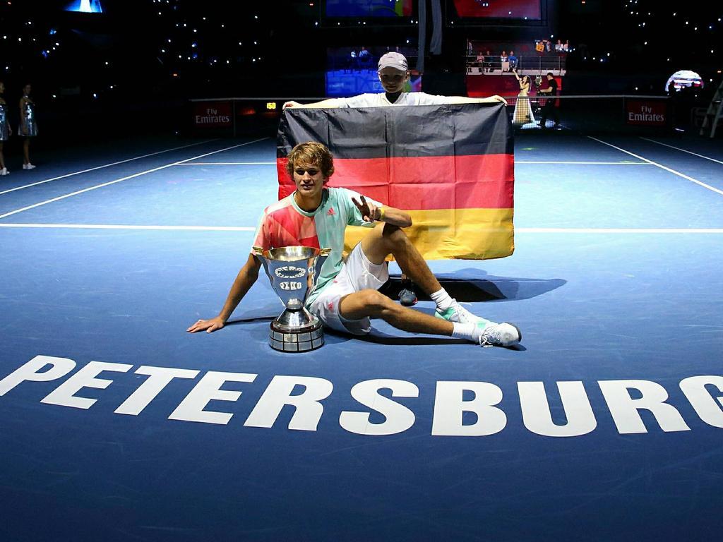 Alexander Zverev siegte beim Turnier in St. Petersburg