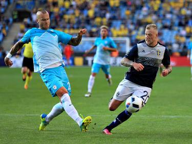 Im Freundschaftsspiel zwischen Schweden und Slowenien gab es keine Tore. (30.05.2016)
