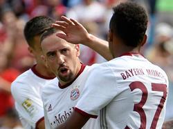 Torschützen unter sich: Franck Ribéry und Julian Green (r.)
