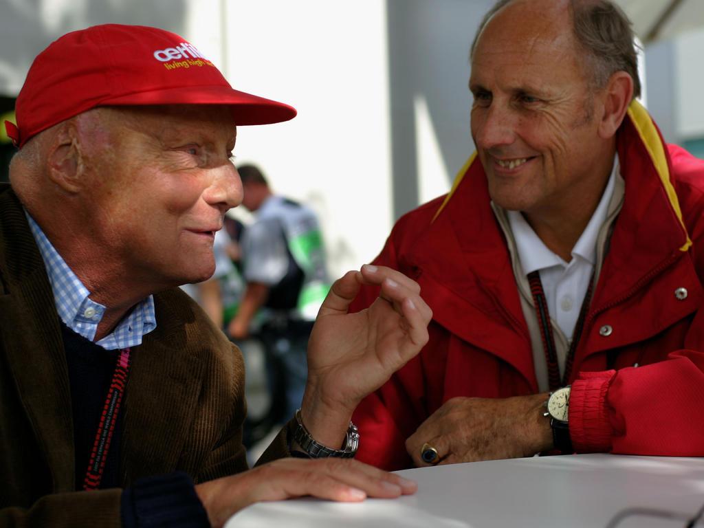 Hans-Joachim Stuck (r.) war an der Rettungsaktion für Niki Lauda beteiligt