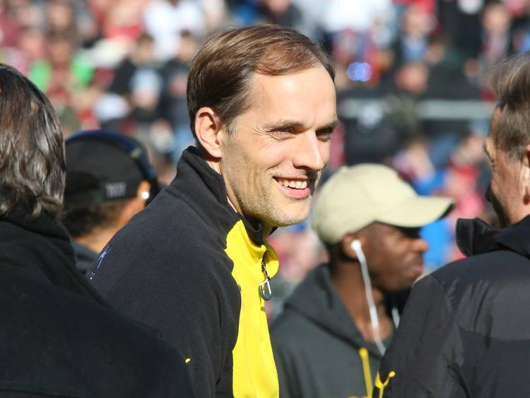 BVB-Trainer Thomas Tuchel zeigte sich in Freiburg gut gelaunt