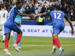 Die Youngster Kylian Mbappé (r.) und Ousmane Dembélé