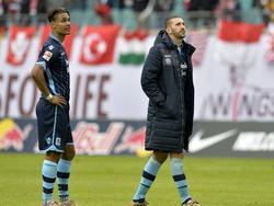 Der eine bleibt, der andere geht: Ruben Okotie (l.) und Sascha Mölders