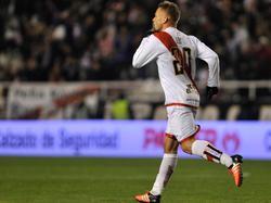 "Patrick ""Ebi"" Ebert feiert sein Tor in der Copa del Rey gegen Getafe"