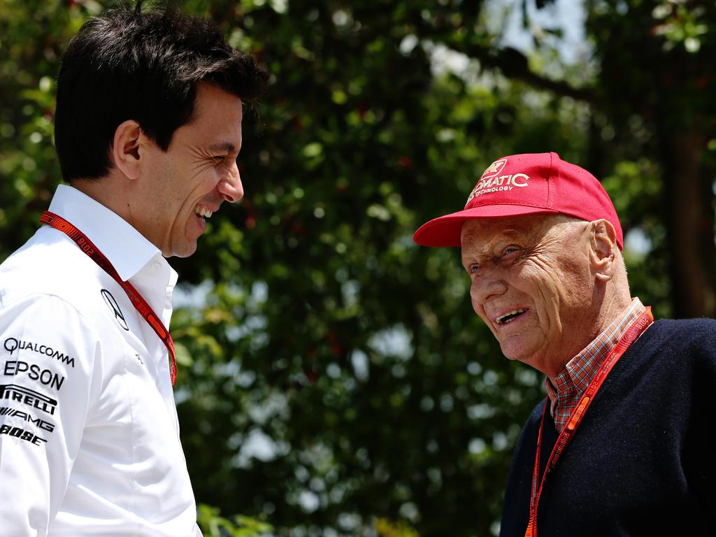 Im anhaltenden Mercedes-Erfolg vereint: Niki Lauda (r.) und Toto Wolff