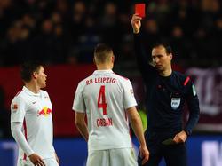 """Ausgerechnet bei seiner Rückkehr auf den """"Betze"""" wurde Willi Orban vom Platz gestellt"""
