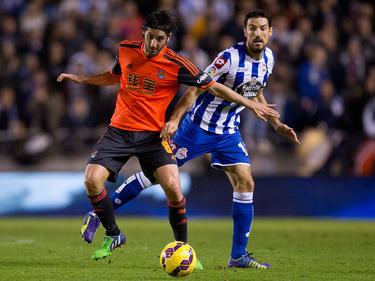 Granero (izq.) en un partido contra el Deportivo de La Coruña. (Foto: Getty)