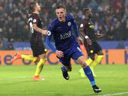 Jamie Vardy und Leicester City fügten Manchester City eine schmerzhafte Niederlage zu