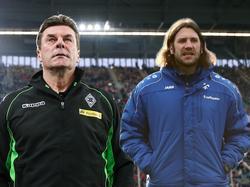 Dieter Hecking (l.) und Torsten Frings treffen zum letzten Spiel der Hinrunde aufeinander