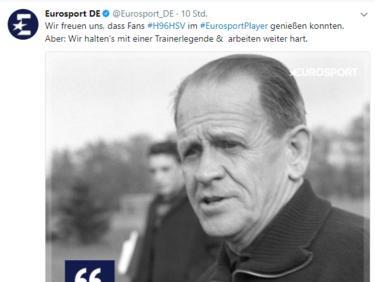 Auch beim Spiel Hannover 96 gegen den HSV gab es offenbar Probleme (Bildquelle: twitter.com/eurosport_de)