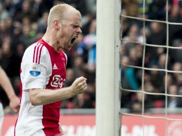 Davy Klaassen maakt een paar minuten voor tijd de aansluitingstreffer tegen FC Utrecht en beseft dat er weer van alles mogelijk is. (17-04-2016)