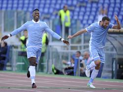 Baldé Keita (l.) bejubelt seine drei Treffer