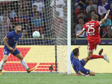 Thomas Müller hat gegen den FC Chelsea einen Doppelpack geschürt