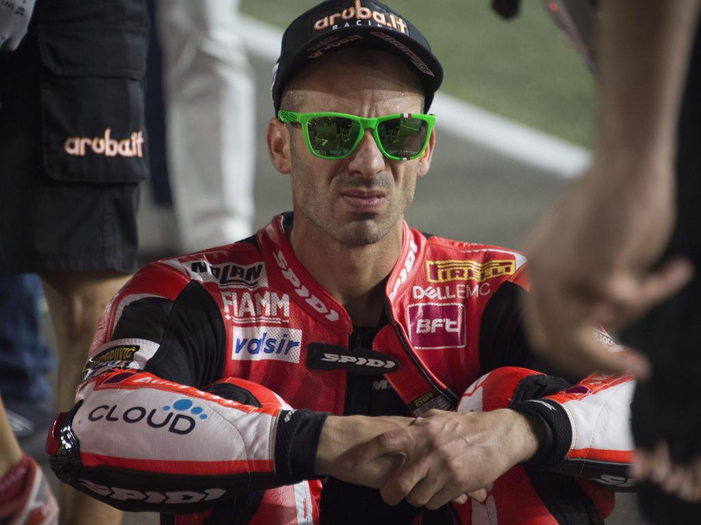 Marco Melandri blickt der neuen Saison sorgenvoll entgegen