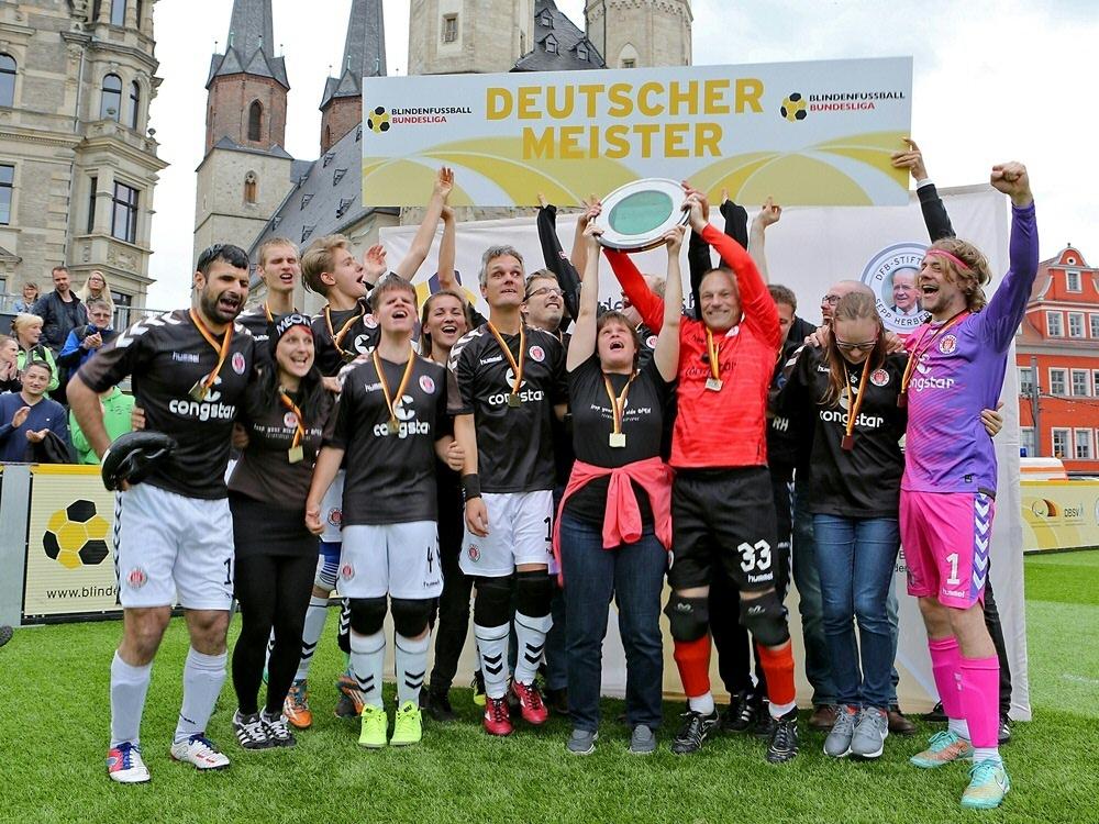 Der FC St. Pauli ist deutscher Meister im Blindenfußball